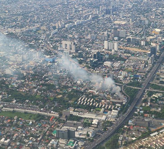 Ciudad vista aérea