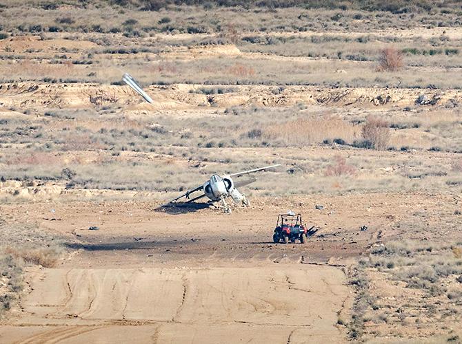 Ejercicio dardo RRS-1 y SCRAB II volando