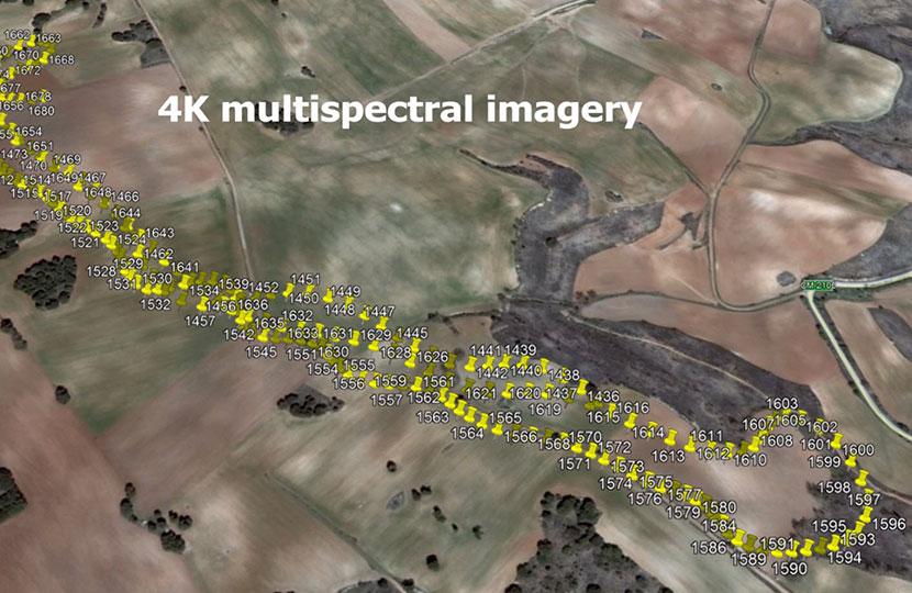 Inspección de gaseoductos mapa 4k