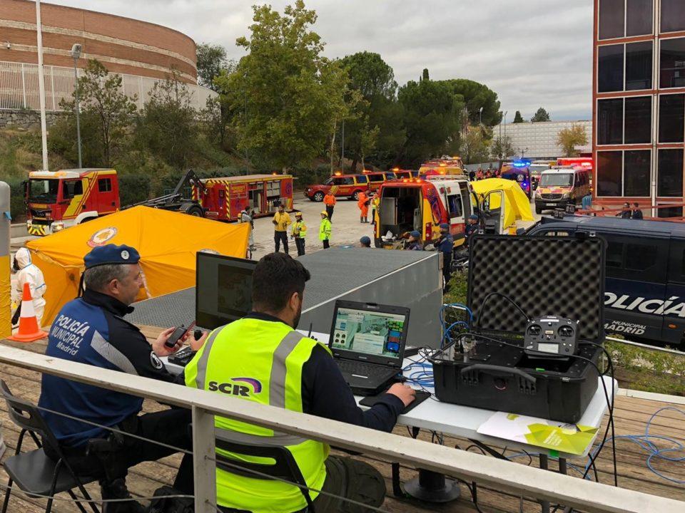 policia-municipal-dron-cautivo-aster-t-en-simulacro-emergencias