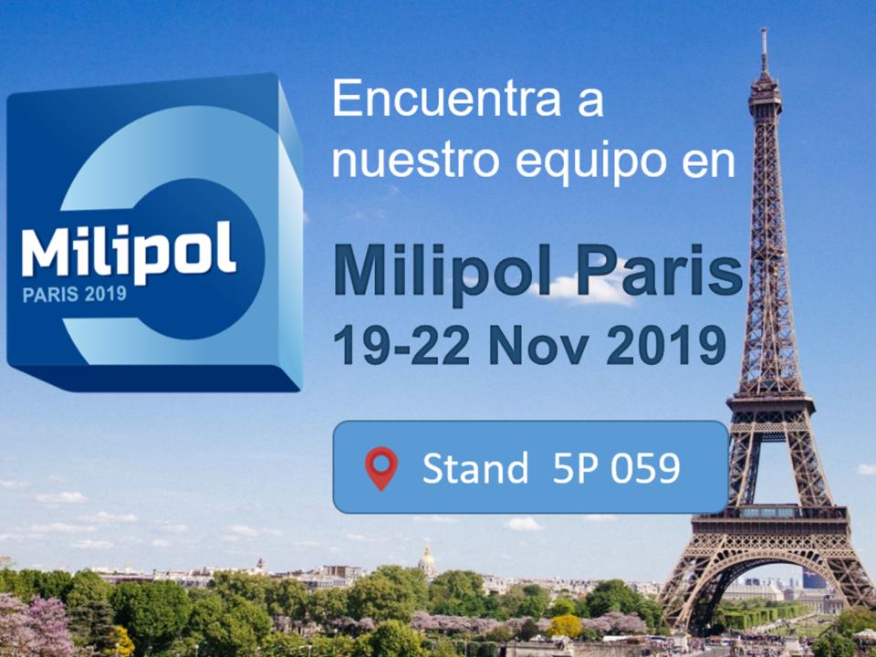 SCR estará presente en Milipol París 2019